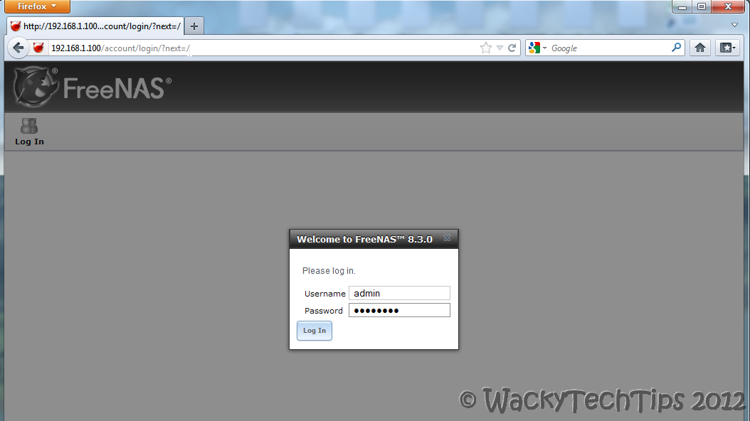 FreeNAS 8 install on VMware Workstation | WackyTechTips